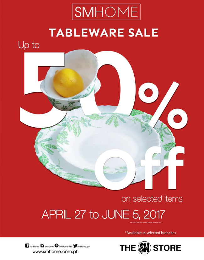 SM Home Tableware Sale