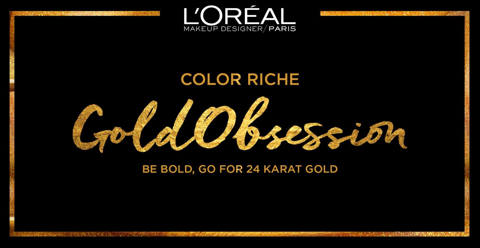 LOreal Paris Color Riche Gold Obsession Lipstick 3.7g (Le ...