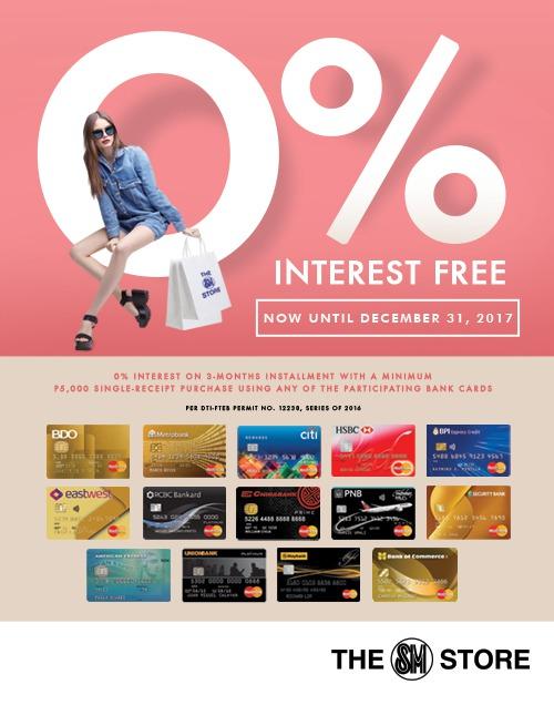 0% interest for 3 months installment