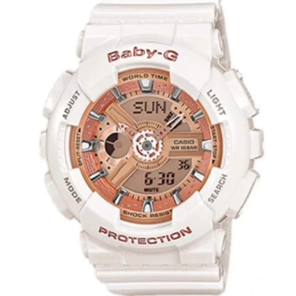 Casio World Time Analog Digital Watch Gold Dial Aeq 110 Fesyen Ae 1000w 1a Original Similar Baby G White Resin Strap Ba 7a1