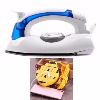 Hetian Portable Travel Mini Steam Electric Flat Iron with 180cmExtension (Yellow)