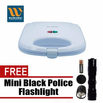 Microbishi Sandwich Maker MSM-2605 Breadmaker Barbecuemachine(White) with free Mini Black Police Flashlight