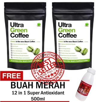 Ultra Green Coffee Sets of 2 with FREE 12 in 1 Super Antioxidant Buah Merah 500ml