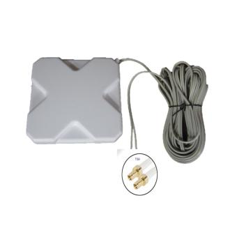 4G LTE 35dbi Mimo Antenna with 10 meter Wires with TS9 for E5372E5577 E5573 (White)