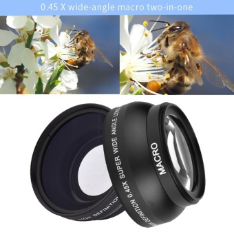 52mm 0.45x Wide Angle Lens Universal Conversion Macro Lens ForCamera Canon Nikon Sony - intl