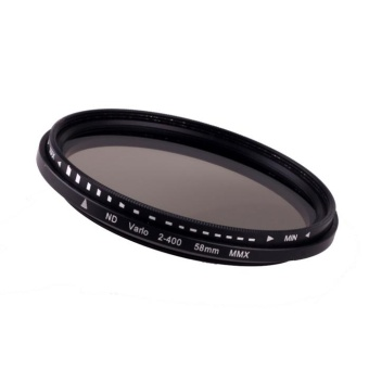 58mm Fader Variable ND Filter Adjustable ND2 to ND400 Neutral Density - intl