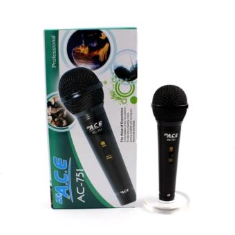 Ace AC-751 Professional Uni-directional Wired Microphone (Black)