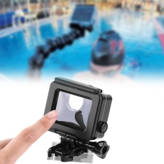 Black Waterproof ABS Housing Protective Case With TouchableBackdoor For Gopro Hero 4/3+ Camera - intl