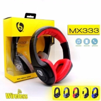 Bluetooth Headphones MX333 Wireless V4.1 Headset Earbuds Stereo Earphones for Sports Running for iPhone Samsung LG HTC Cell Phone