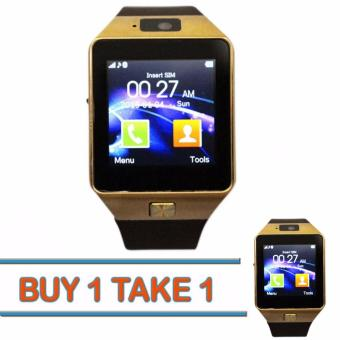 DZ09 Bluetooth Touch Screen Smart Watch with Camera(GOLD)Buy 1 Take 1
