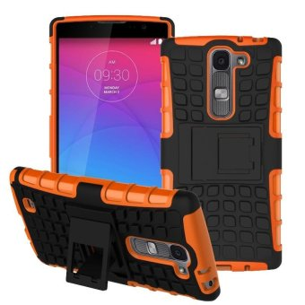 For LG Magna Case H502F H525N H500F H522Y Heavy Duty Armor Shockproof Hybrid Hard Silicone Rubber Cover - intl