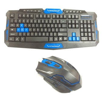 HK8100 2.4GHz Wireless USB Gaming Keyboard with Mouse Combo Set