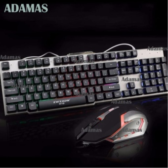 LK006 Metal Backlight Gaming Keyboard and Mouse Combo(Black/Silver)