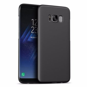 LUOWAN Galaxy S8 Case Smoothly Skin Shockproof Ultra Thin Slim Full Body Protective Cover For Samsung S8 5.8-inch ( Black)