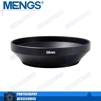 Mengs 58mm aluminum Wide Angle Lens Hood for camera
