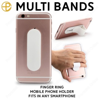 Multi Band Finger Ring Mobile Phone Smartphone Stand Holder For iPhone Samsung HTC Sony LG Xiaomi Smartphone (White)