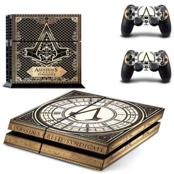 New Assassin's Creed Decal PS4 Skin Sticker For Sony Playstation 4 PS4 Console protection film and 2Pcs Controller Protective skins - intl