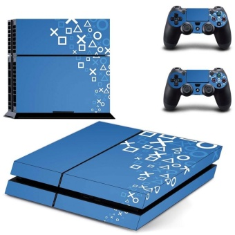 new PS4 Game button symbol Havoc Decal PS4 Skin Sticker For SonyPlaystation 4 Console film +2Pcs Controller - intl
