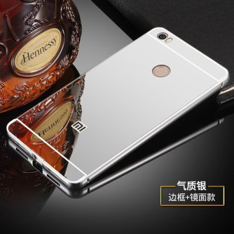 NEW Xiaomi Mi Max phone Case,Luxury Metal Air Aluminum BumperDetachable + Mirror Hard Back Case 2 in 1 cover Ultra-Thin FrameCase For Xiaomi Mi Max - intl