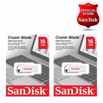 Sandisk 16GB Cruzer Blade USB 2.0 Flash Drive WHITE SET OF 2