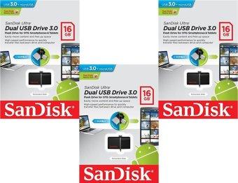 SanDisk Ultra Dual USB Drive 3.0 SDDD2-016G 16GB OTG USB 3.0 Flash Drive (