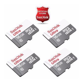 Sandisk Ultra Micro SDHC Class 10 UHS I 16GB SDSQUNS 016G