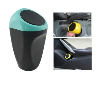 Universal Garbage Dust Case Box Auto Rubbish Dustbin Can BucketTrash Can Auto Accessories Car Organizer Trash Bin Mini Used indrink holder/Door side - intl