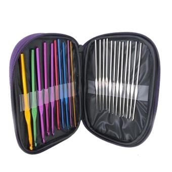 Aluminium & Steel Crochet Hooks 22 Pcs in 1 Set - intl