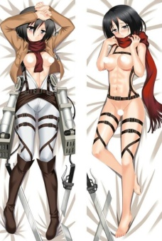 Attack on Titan Mikasa Ackerman Anime Dakimakura Case CushionHugging Body Japan Pillow Cover - intl