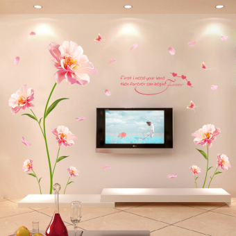 Cozy bedroom living room TV backdrop wall stickers