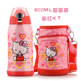 Hello Kitty stainless steel with straw insulated water cup insulated cup