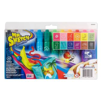 Mr. Sketch Scented Markers- Chisel Tip- Assorted Colors- 12-Count