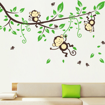 Park living room bedroom sofa TV background wall stickers