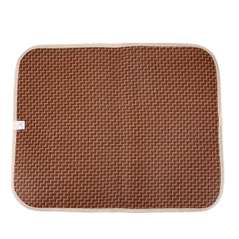 Summer Pet Dog Cat Cooling Mat Rattan Mattress Pet Dog Cat CushionBed (M) - intl