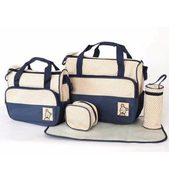 5-piece Baby Changing Diaper Nappy Bag Handbag Multifunctional BagsSet