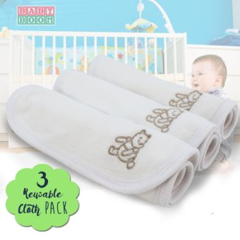 Baby Boom Infant Newborn Cotton Wipes and Burpcloth for SensitiveSkin- 3pcs