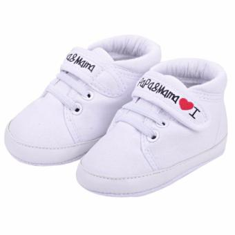 Baby Infant Kid Boy Girl Soft Sole Canvas Sneaker Toddler Shoes - intl
