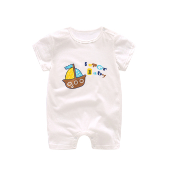 Baby newborns one-piece short sleeved summer romper