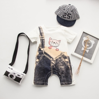 Baby one-piece male newborns boxer romper