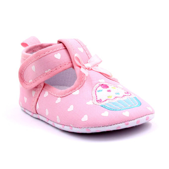Baby Step Cupcake Hearts Baby Girl Shoes (Pink)