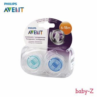 Baby-Z Philips Avent Newborn Orthodontic Pacifier 2 Pieces 6-18m (Green,Blue)