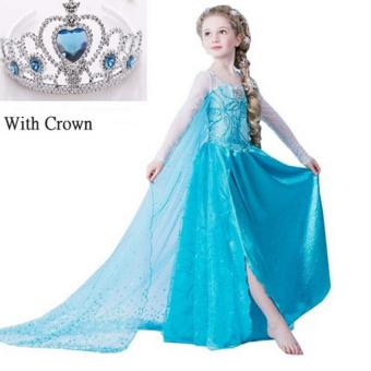 Girls Princess Dress with crown for Children Girls Birthday party dress