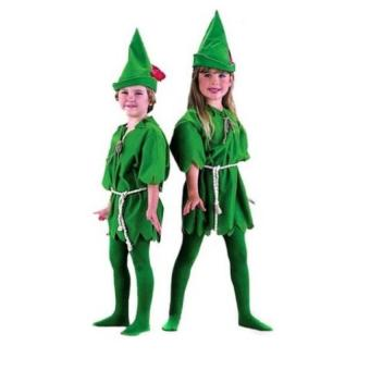 Halloween Cosplay Green Elf Costume Kids