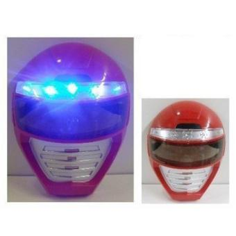 Light up Power Rangers Mask Unique Kids Dress up Role Play Cosplay Costume Pretend Play Power Rangers Red Power Ranger Universal Size Light up LED Mask - intl
