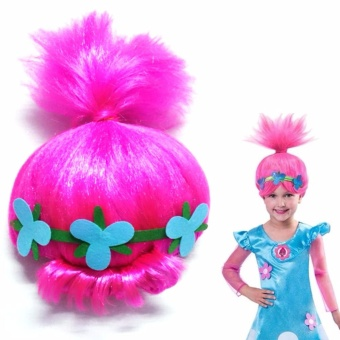 Trolls Kids Poppy Elf/Pixie Wigs Cospaly Party Toy Props Halloween - intl