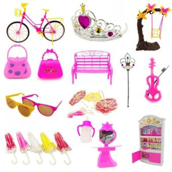 YBC 55Pcs Baby Toys Creative Barbie Dolls DIY Toy Accessory - intl