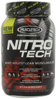 MuscleTech Nitro-Tech Performance Series Strawberry 907 grams