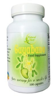 Natural Herb Guyabano Capsules Food Supplement 100 Capsules, Bottleof 1