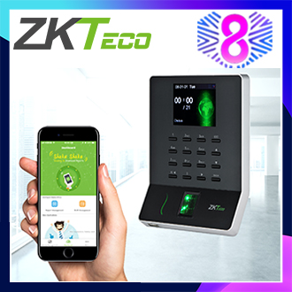 ZKTeco 2.8 inch TFT USB Biometric Fingerprint Time Attendance Machine Time Clock Recorder Employee Checking-In/Out Reader Allow Mobile APP Connection WL20