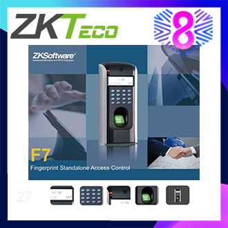 ZKTeco Biometric Fingerprint Access Control  Standalone Time For Door Lock Home Security System F7